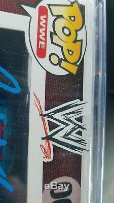 WWE Rey mysterio signed 7/11 exclusive vaulted funko pop JSA + Pop Stack