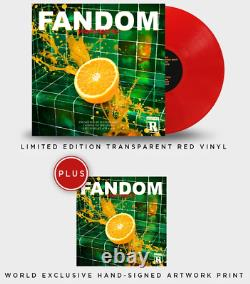 Waterparks FANDOM Exclusive EXTREMELY RARE Red Vinyl LP With Signed Art Print