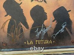ZZ TOP SIGNED AUTOGRAPHED LP VINYL LA FUTURA BILLY GIBBONS FRANK DUSTY HILL x3