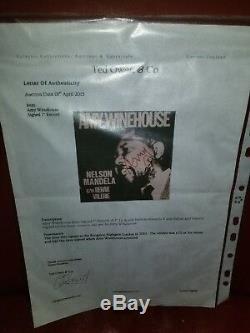 1/250 Ltd Ed Amy Winehouse Signé 7 Ep Vinyle A Côté Nelson Mandela Côté B Rehab