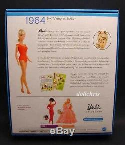 2010 Convention Vag 1964 Swirl Ponytail Poupée Barbie Repro Bill Greening Signé