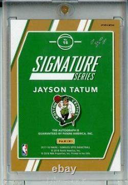 2017-18 Donruss Optic Jayson Tatum Série Signature Vinyle Or 1/1 Rookie Auto