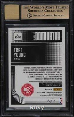 2018 Donruss Optic Dominator Gold Vinyl Trae Jeune Rookie Rc Auto 1/1 Bgs 9.5