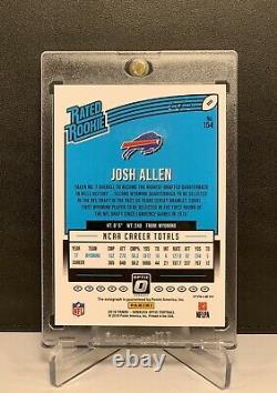 2018 Josh Allen Donruss Optic Gold Vinyl Prizm Superfractor Auto Rookie Rc 1/1