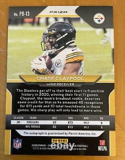 2020 Chroniques Panini Prizm Black Chase Claypool Rc Rookie Auto Gold Vinyle 2/5