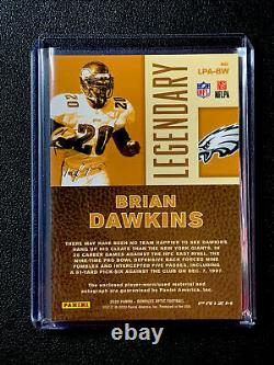 2020 Optic Prizm Brian Dawkins Gold Vinyl Patch Auto 1/1 Hof Eagles #lpa-bw Ssp