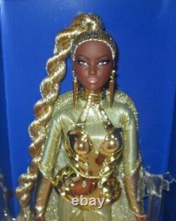 Aa 2017 Barbie Convention Doll Golden Galaxy Barbie Nrfb Le330 Avec Coa Signé