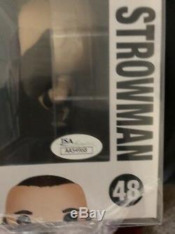 Adam Scherr Signé Wwe Funko Pop Vinyl Figure Monstre Rare Parmi Les Hommes Jsa