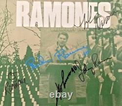 Autographié / Signé Ramones Bonzo Goes To Bitburg Vinyl Single Uk Importation
