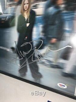 Avril Lavigne Signé Autographié Encadrée Urban Outfitters Ex Let Go Vinyle Psa Coa