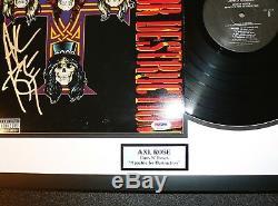 Axl Rose Signé Guns N Roses Appetite For Destruction Vinyle Album Psa Jsa Bsa