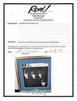 Beatles (4) Edition Signée Parlophone Premier Pressage Album Cover Vinyliques Real & Bas Loa