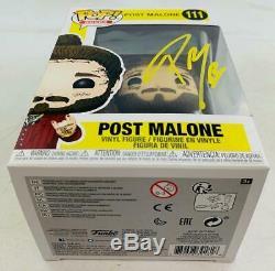 Beerbongs & Bentleys Après Malone Funko Pop Autographié Par Post Malone