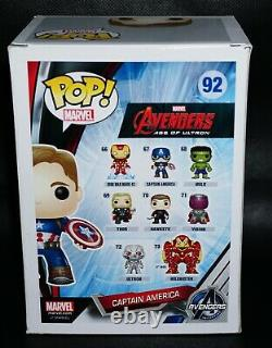 Chris Evans Signed Captain America Unmasked Age Of Ultron Funko Pop Jsa Psa