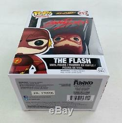 DC Cw Flash Funko Pop Autographié Par Grant Gustin