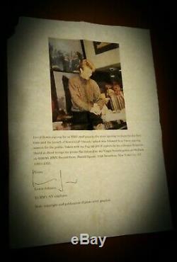 David Bowie Rare'outside ' Signé Autographié Promo Flat Vinyle Nine Inch Nails