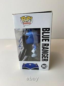 David Yost Autographed Metallic Blue Ranger Gs Exclusive Funko Pop Power Rangers