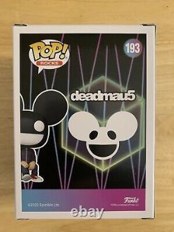 Deadmau5 Signé Funko Pop Rare Autographié #193 Deadmaus Authentic