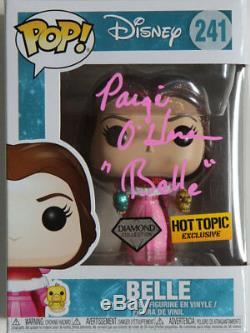 Disney Belle Collection Signée Diamond Funko Pop Page O'hara Preuve Withexact