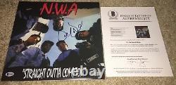 Dr Dre Signed Nwa Straight Outta Compton Album Vinyle Beckett Bas N. W. A. Eazy E