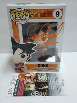 Dragonball Z Goku Signé Sean Schemmel Autographié Funko Pop! # 09 Jsa Coa