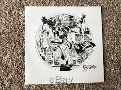 Drive Bande Son Rose 2x Vinyle Lp Record Variant Signé Par Tyler Stout Mondo Nouveau