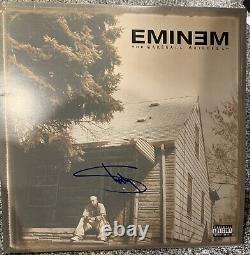 Eminem Signé Autograph Marshall Mathers Lp Mmlp Vinyl Beckett Bas Certifié Coa