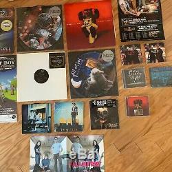 Fall Out Boy Folie À Deux Lp + 23 Dédicacé Et De Collection Raretés