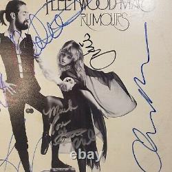 Fleetwood Mac Rumeurs Dédicacé Stevie Nicks Tous Les 5 Rumeurs Vinyl Lp Album Coa