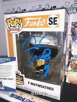 Floyd Mayweather Signé Boxe Autographié Personnalisé 1/1 Funko Pop Beckett Bas Coa