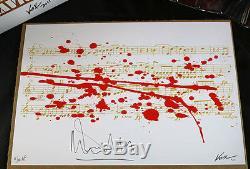 Frank Kozik Malcom Mcdowell Signe 14 Ludwig Van Beethoven Le 10 Autographed