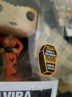 Funko Empire Spooky Pop Robe Exclusive Elvira Orange Le 1500 Signe De Cert Jsa