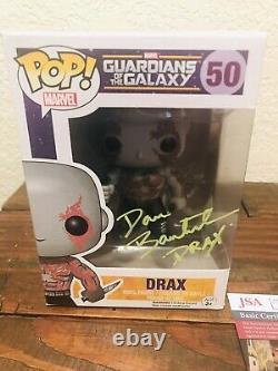 Funko Pop #50 Drax - Autographié Par Dave Bautista (coa) S'il Vous Plaît Lire