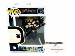 Funko Pop 5 Severus Rogue Signé Par Alan Rickman Coa
