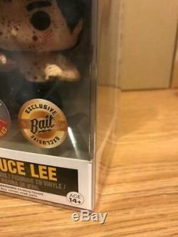Funko Pop Bruce Lee Set 218 & 219 Nycc Rudy Ramirez Exclusif Signé