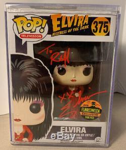 Funko Pop Elvira 2016 Funkoween 1500pc Robe Rouge + Signe Protector