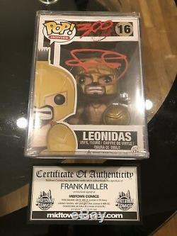 Funko Pop! Film 300 Leonidas # 16 Voûté Retraité Pop Cas Signé Frank Miller