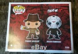 Funko Pop! Freddy Krueger Et Jason Voorhees Signed Robert Englund Ken Kirzinger
