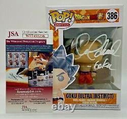 Funko Pop Goku Ultra Instinct Dragon Ball Dbz Autographed Seanchemmel Avec Jsa