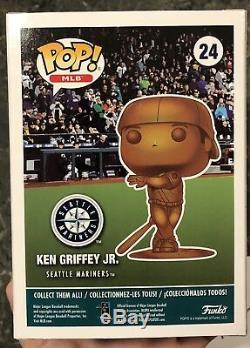 Funko Pop! Ken Griffey Jr Bronze Le 24 Autographié Avec Hof 16 Inscription 1/1 Coa