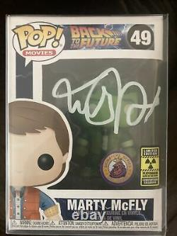 Funko Pop! Marty Mcfly Plutonium Gitd Plastic Empire Limited À 200 Signé Jsa
