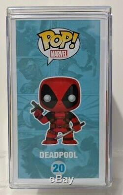 Funko Pop Marvel Deadpool Metallic Sdcc 2013 Exclusive 480 Signé Par Stan Lee