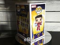 Funko Pop Marvel Iron Man Avengers Signé Par Robert Downey Jr