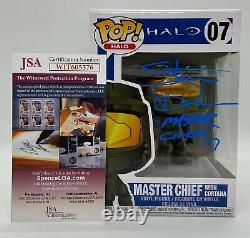 Funko Pop Master Chef Avec Cortana Halo #07 Steve Downes Blue Autographed Jsa Coa