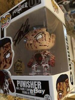 Funko Pop Netflix Punisher Stan Lee A Signé Personnalisé Morceau Impressionnant