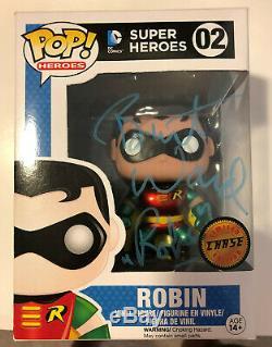 Funko Pop Robin Chase DC Universe Métallique Variant. Autographié. Mint Condition