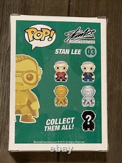 Funko Pop! Stan Lee Gold #03 Signé Autograph Excelsior Approuvé Exclusif