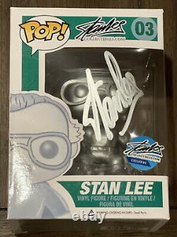 Funko Pop! Stan Lee Silver #03 Signé Autograph Excelsior Approuvé Exclusif