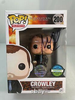 Funko Pop Supernatural Crowley Blood Splattered Le Signé Par Mark Sheppard 10/25