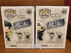 Funko Pop Vinyle Jay Signé Autographié & Bob Contre-attaquent # 42 & # 43 Greffiers